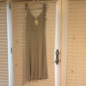 Heather grey midi dress
